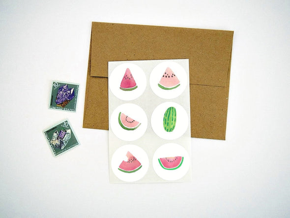 Watermelon Stickers Envelope Seals Labels
