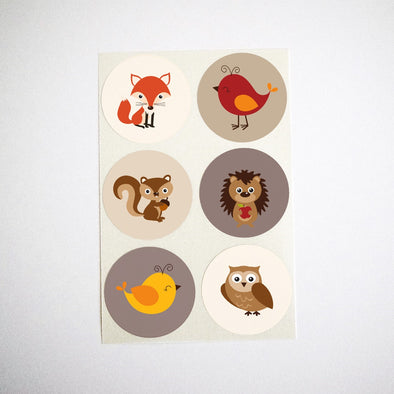 Autumn Woodland Animals Stickers