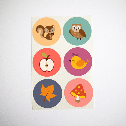 Autumn Woodland Collection Stickers