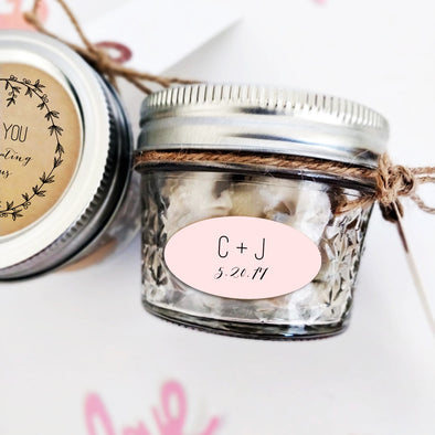 Custom Oval Stickers for Canning Jars | Once Upon Supplies