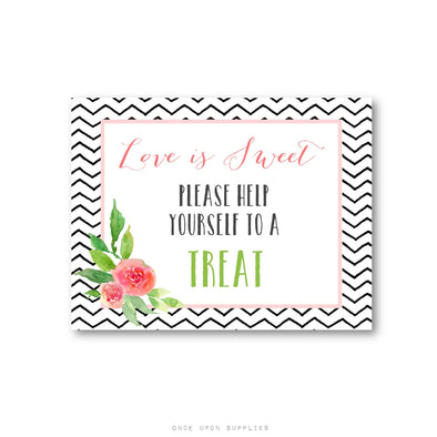 Help Yourself To a Treat Wedding Sign for Favor Table - Once Upon Supplies