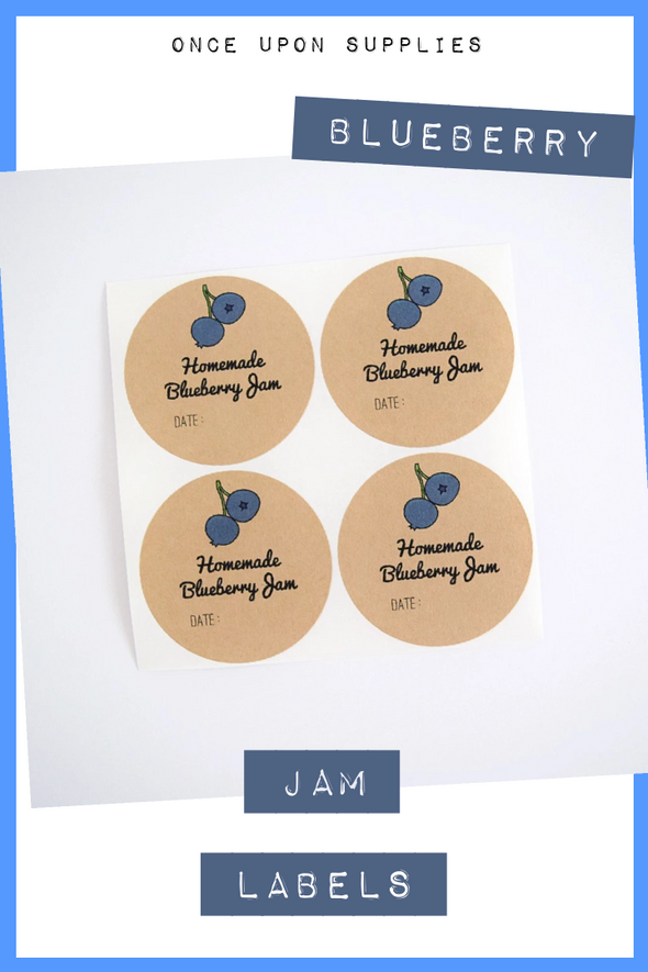 Blueberry Jam Canning Labels | Canning Supplies