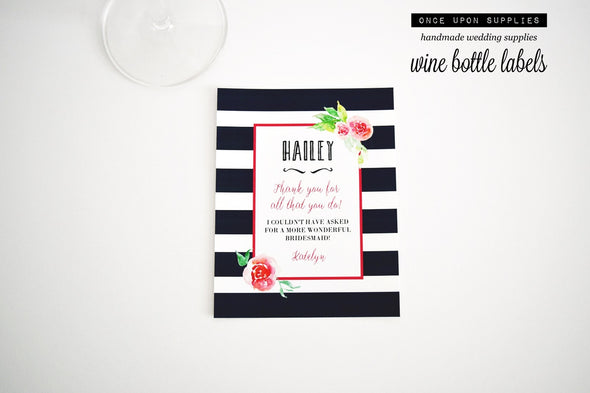 bridesmaid gift labels