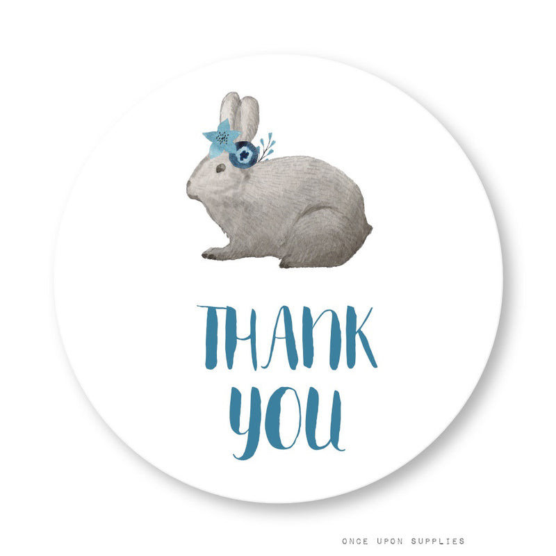 Bunnies Party Thank You Stickers