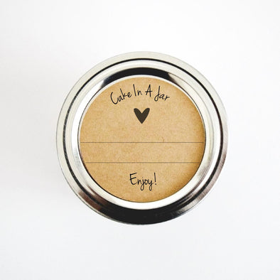 Cake in a Jar Labels