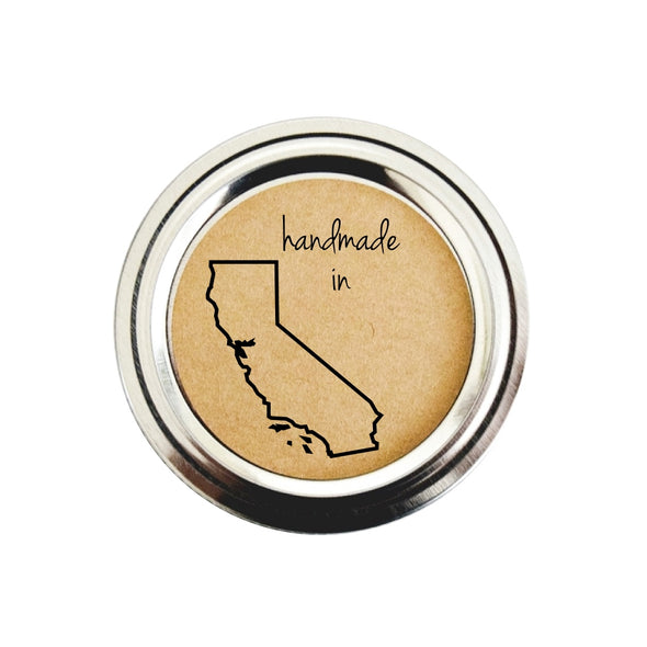 California State Shape Outline Canning Labels | Handmade in CA Stickers | Once Upon Supplies