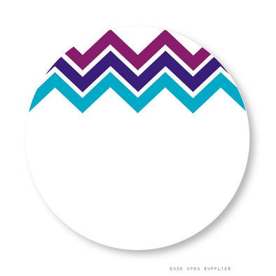 Midnight Chevron Stripes Labels with Blank Space