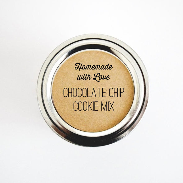 Chocolate Chip Cookie Mix Jar Labels - Once Upon Supplies