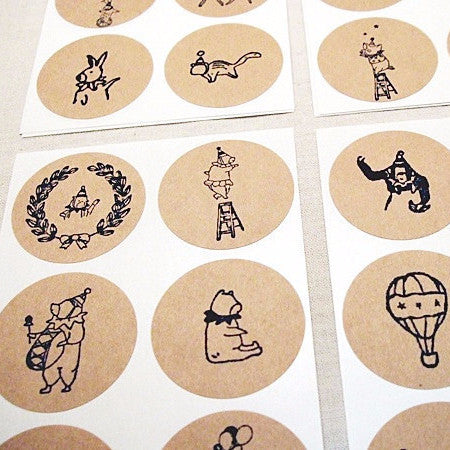 circus theme stickers
