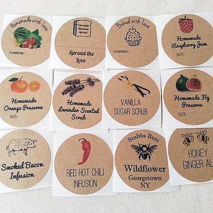 Create Your Own Stickers - Custom Mason Jar Canning Labels - Once Upon Supplies