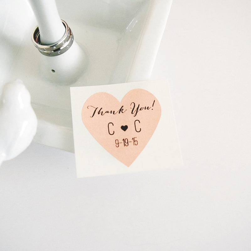 personalized envelope seals custom wedding heart stickers