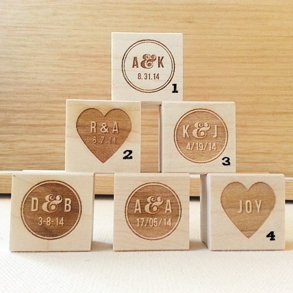 Personalized Wedding Rubber Stamps. Choose Your Design | Once Upon Supplies
