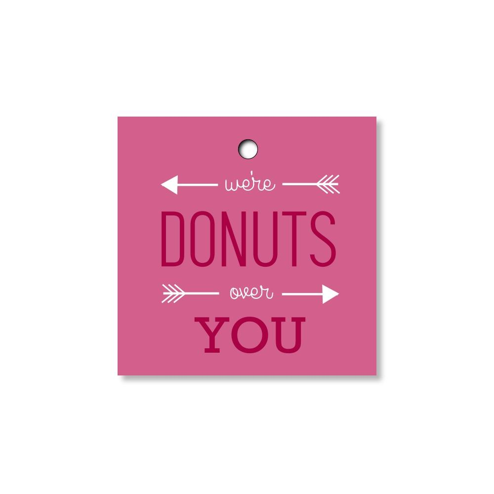 Donuts Over You Donut Favor Tags for Wedding, Bridal Shower or Party F