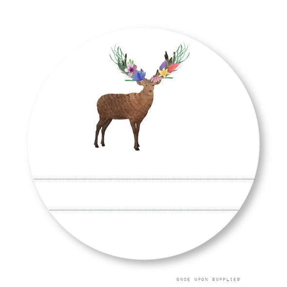 Forest Animals Labels with Blank Space