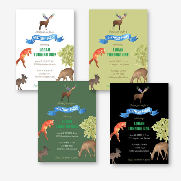 Woodland Forest Animals Complete Party Bundle Printables Instant Download