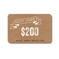 Once Upon Supplies Gift Card Black Friday Sale