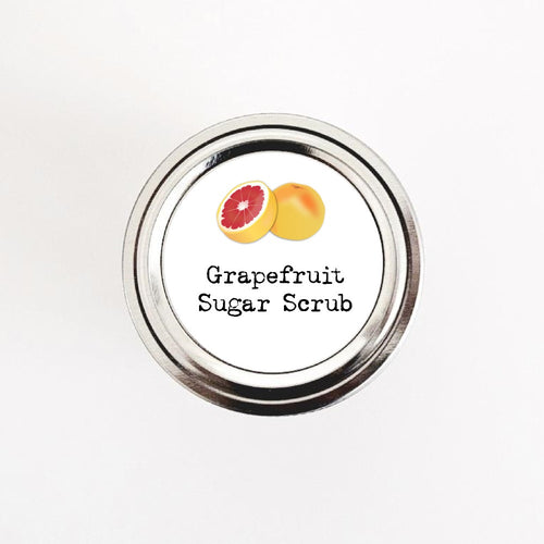 Grapefruit Sugar Scrub Labels Stickers - Once Upon Supplies