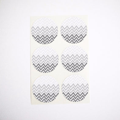black ombre chevron stripes stickers