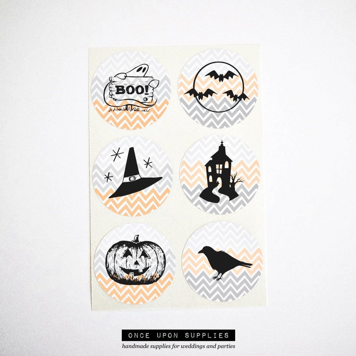 halloween theme round stickers party favor seals labels