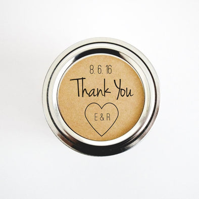 Thank You Stickers. Wedding Favor Labels - Once Upon Supplies