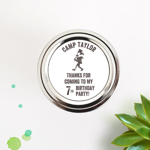 Boy Scout Birthday Party Favor Labels - Once Upon Supplies