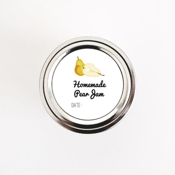 Homemade Pear Jam Labels - Once Upon Supplies