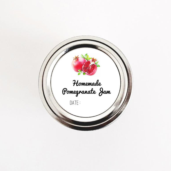 Pomegranate Jam Jar Stickers - Once Upon Supplies