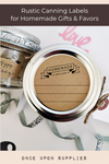 Homemade with Love Jar Lid Labels with Retro Ribbon Design