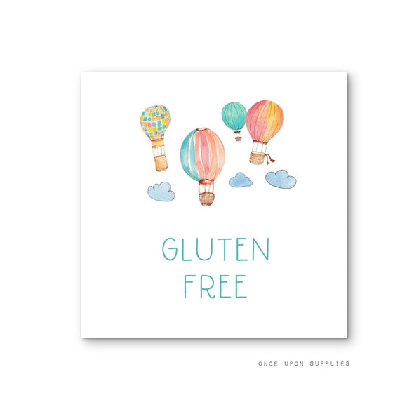 Hot Air Balloon Birthday Party Food Labels