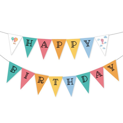 Hot Air Balloons Kids Party Banner Printable