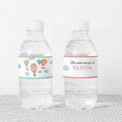 Hot Air Balloons Kids Party Bottle Wrappers Printable