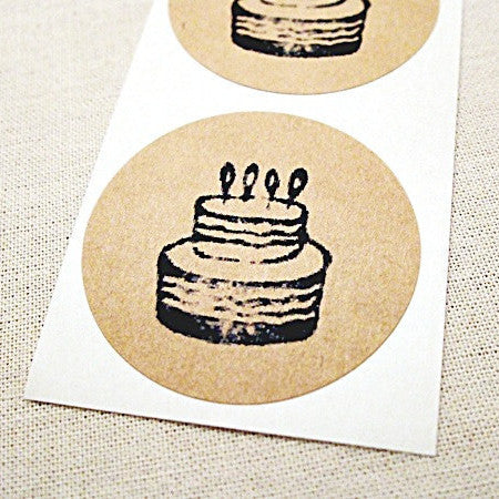 Birthday Cake Stickers - Once Upon Supplies