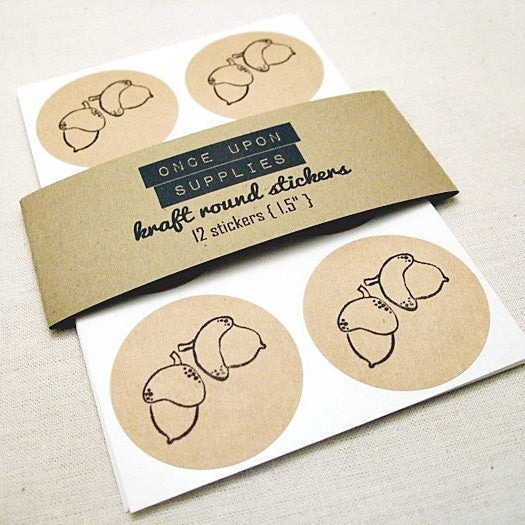 Autumn Acorn Stickers - Once Upon Supplies