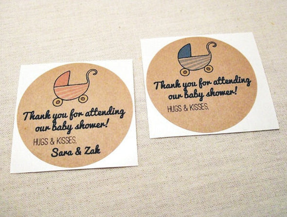 Baby Shower Favor Tags Stickers Labels - Once Upon Supplies - 2