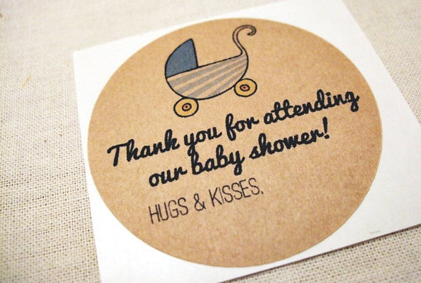 Baby Shower Favor Tags Stickers Labels - Once Upon Supplies - 4