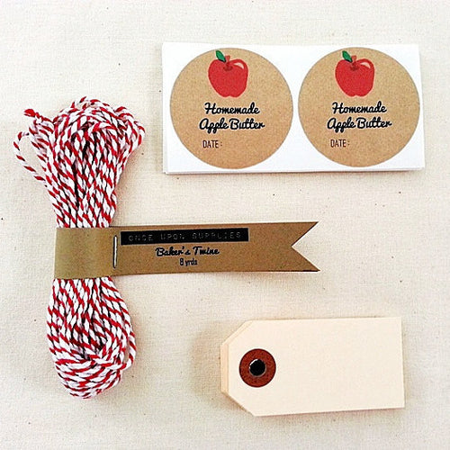 Apple Butter Mason Jar Packaging Gift Wrap Kit - Once Upon Supplies