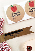 Apple Butter Mason Jar Packaging Gift Wrap Kit with Round Labels, Tags and Twine