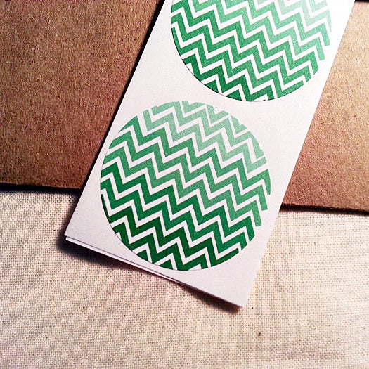 Green Ombre Chevron Pattern Stickers - Once Upon Supplies