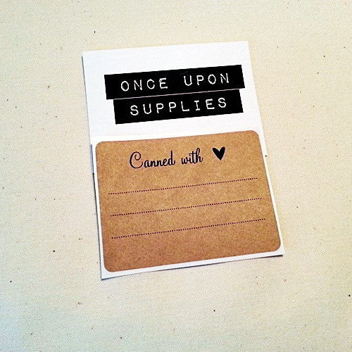 Canned with Love Rectangle Labels - Once Upon Supplies