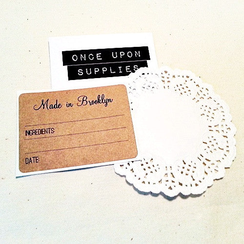 Made in Brooklyn NY Gift Labels - Once Upon Supplies