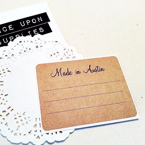 Made in Austin Handmade Labels - Once Upon Supplies