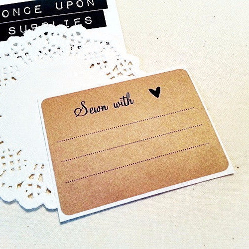 Sewn with Love Labels - Once Upon Supplies