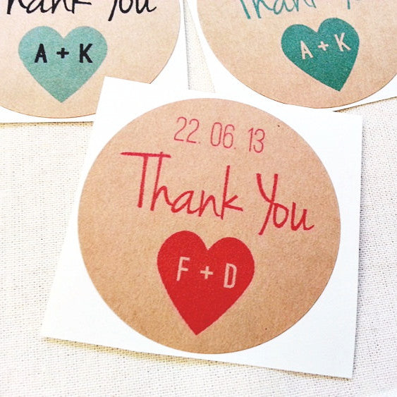 Wedding Thank You Stickers - Once Upon Supplies - 1