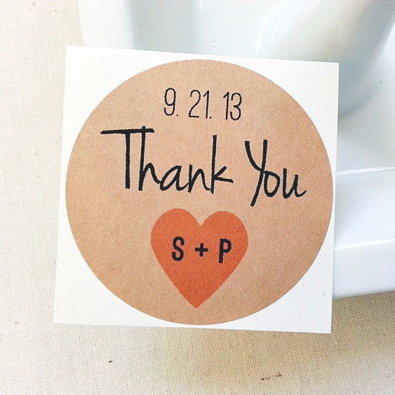 Wedding Thank You Labels. Mason Jar Favor Labels - Once Upon Supplies