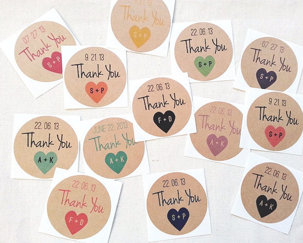 Wedding Thank You Stickers - Once Upon Supplies - 2