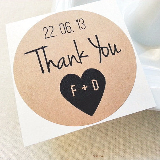 Thank You Wedding Favor Seals - Once Upon Supplies