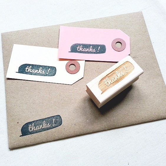 Thanks Quotation Rubber Stamp. Custom Rubber Stamp. - Once Upon Supplies