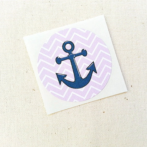 Purple Anchor Stickers - Once Upon Supplies