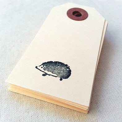 Hand Stamped Hedgehog Gift Tags - Once Upon Supplies