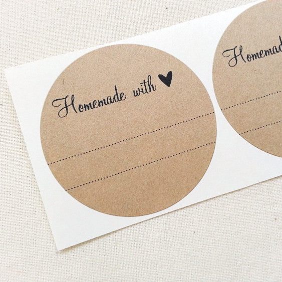 Homemade with Love Canning Labels | Once Upon Supplies